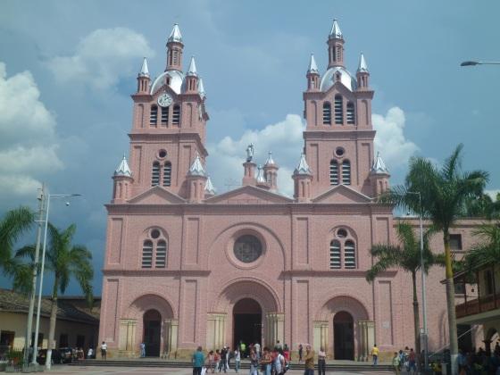 A famosa Baílica del Señor del Milagros de Buga