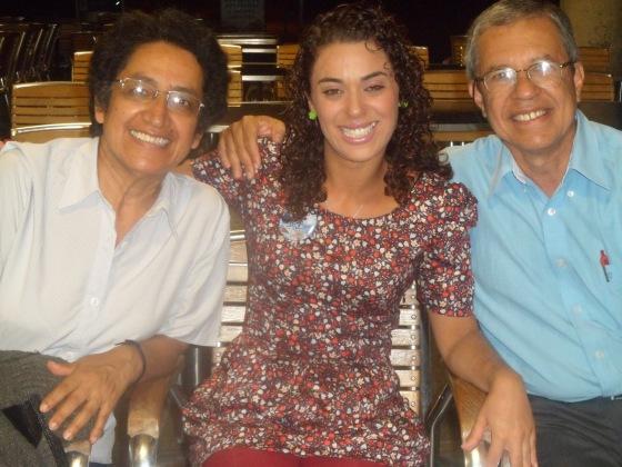 Con Diego Soto y su esposa , ellos tienen una hija que estudia en Curitiba