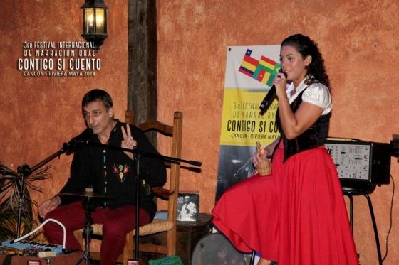 Lili Flor & Paulo Pixu foram os convidados do Brasil para o 3º Festival Contigo Si Cuento - Riviera Cancun
